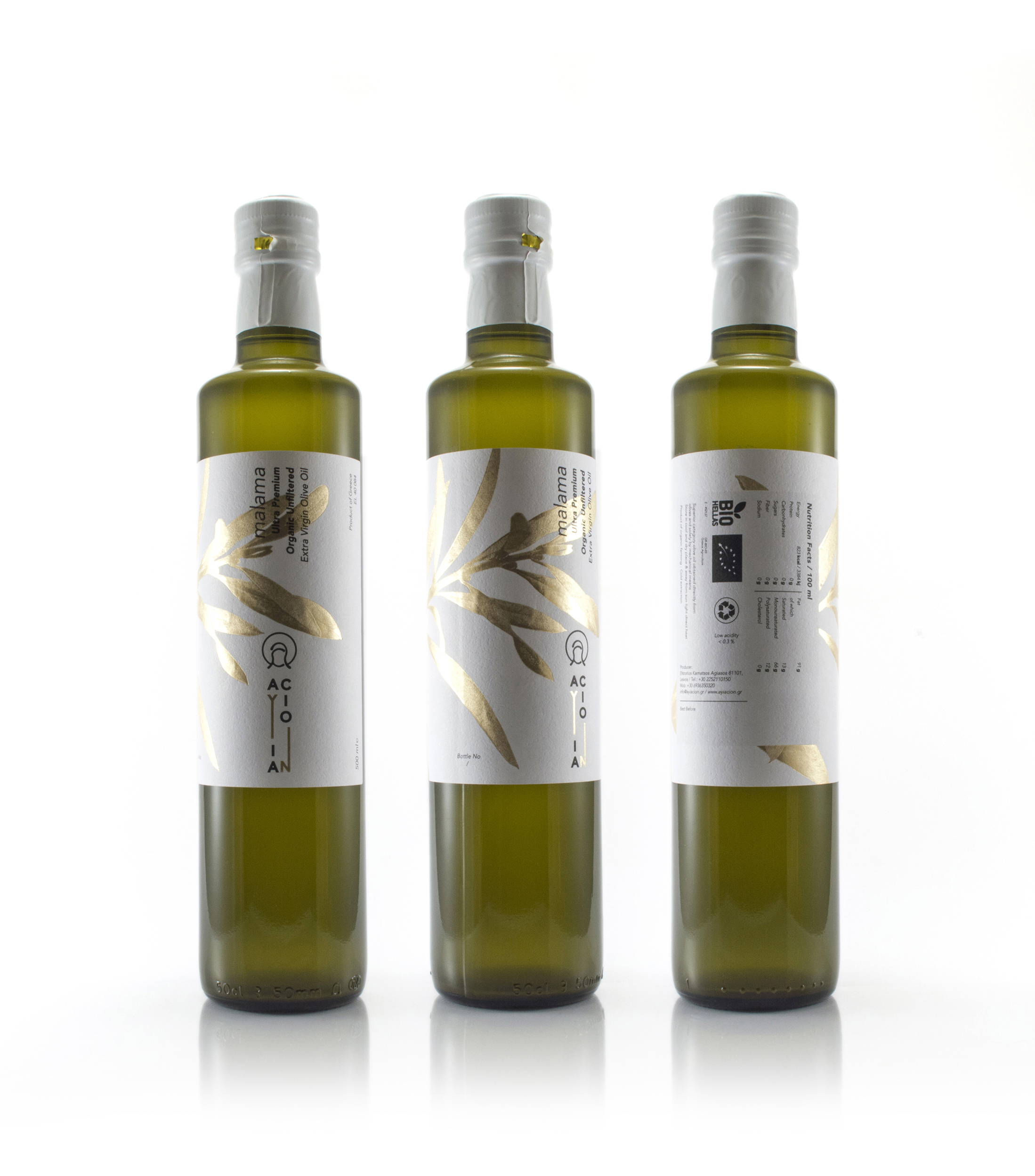 Olive oil packaging design