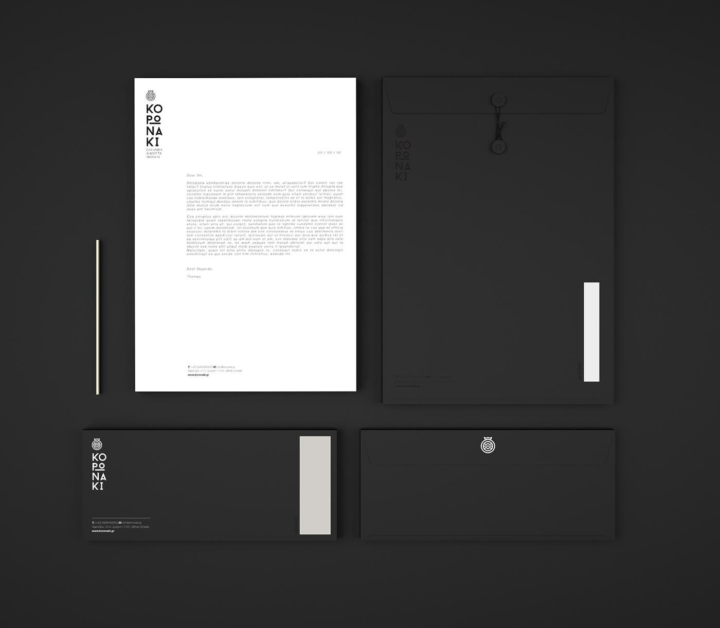 minimalistic branding design
