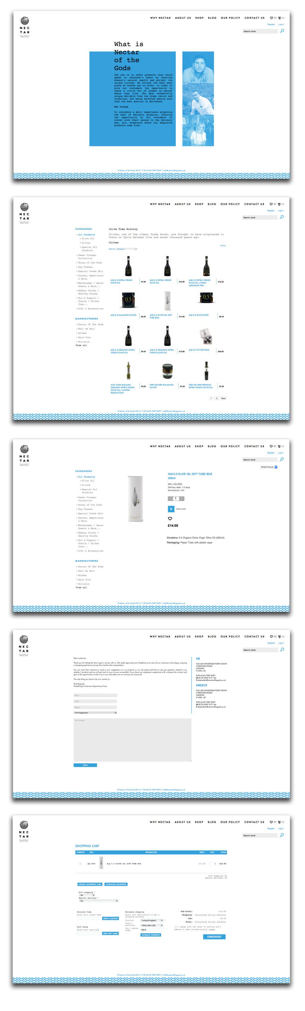 nectar branding web design